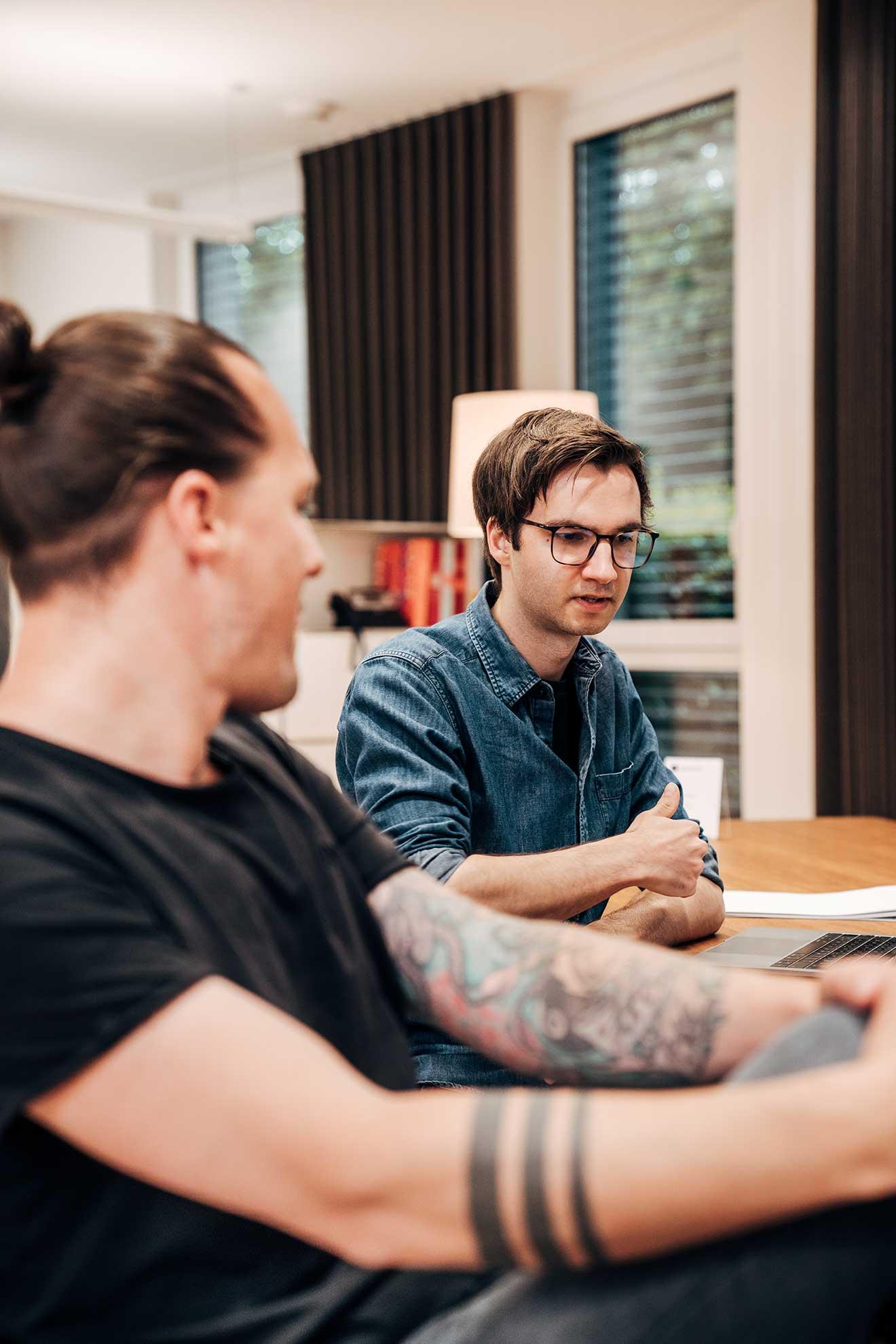 Christian Mack, Creative Director und Philipp Strauch, Art Director und bei der Markenagentur Lighthouse®
